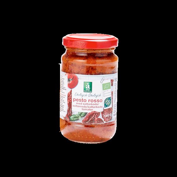 Pesto Rosso med soltørrede tomater, Økologisk 140g.