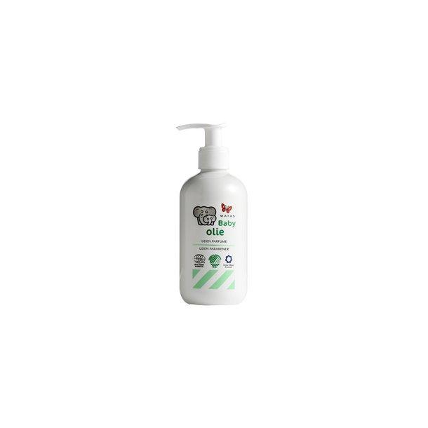 Baby Olie uden parfume, parabener, farve- og konserveringsstoffer, 250 ml