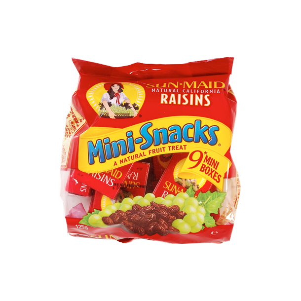 Rosiner mini-snack, Sun-Maid 9 mini bokses