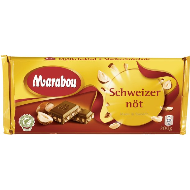 Marabou Schweizer Nød, 200 gram