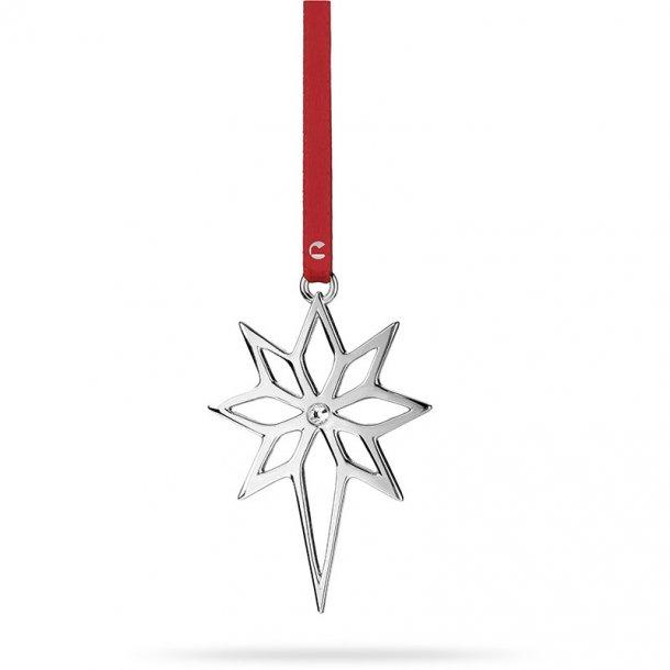 Rosendahl julestjerne med sten, forsølvet. 8cm