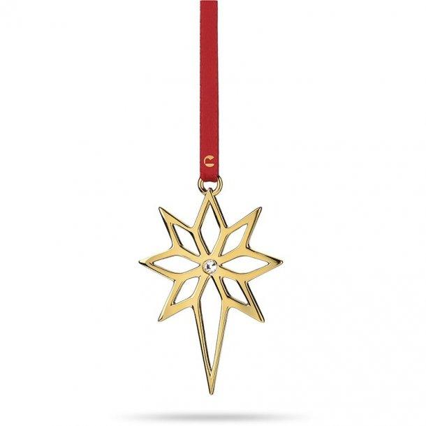 Rosendahl stjerne med sten, forgyldt. 8cm