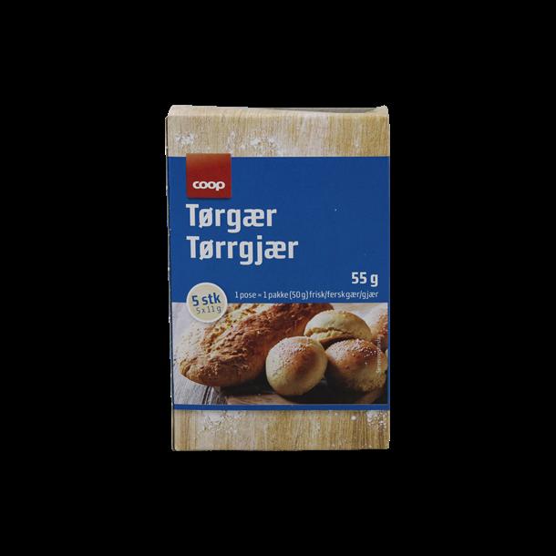 Tørgær 5 poser á 11 gram(Dry yeast, 5 bags of 11 gram)