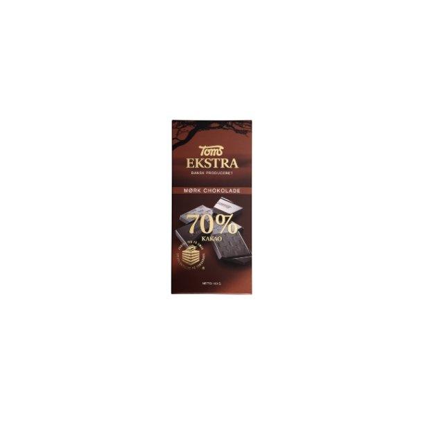 Toms Ekstra, Mørk chokolade 70% 100 gram