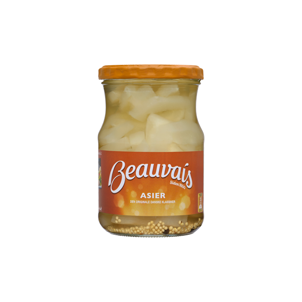 Asier i strimler Beauvais, 560 gram(Gherkin in slices, Beauvais, 560 gram)