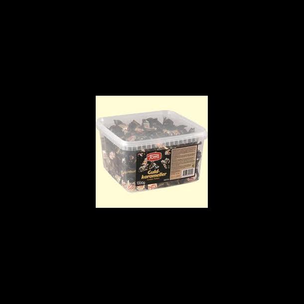 Toms Guldkarameller i kasse, 1000 gram
